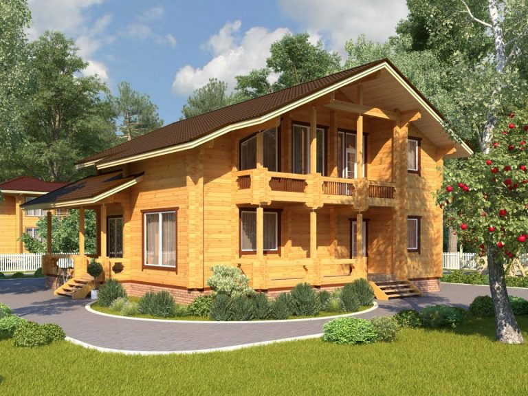 Проект деревянного дома Д-8