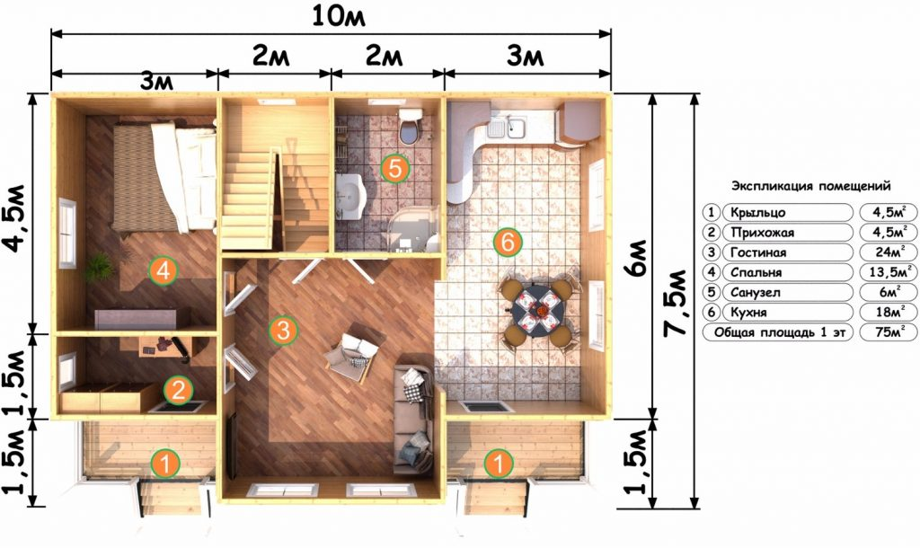 План Д-1 1 этаж